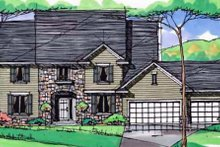 Traditional Exterior - Front Elevation Plan #51-398
