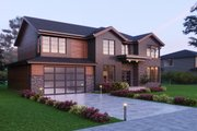 Traditional Style House Plan - 4 Beds 4.5 Baths 4001 Sq/Ft Plan #1066-60 Exterior - Front Elevation