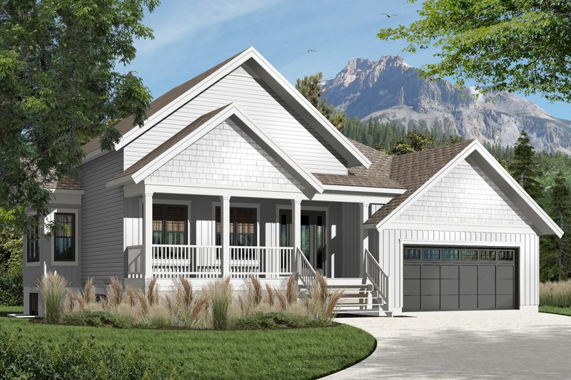 Architectural House Design - Country Exterior - Front Elevation Plan #23-2536