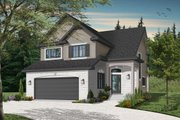Traditional Style House Plan - 3 Beds 2.5 Baths 2005 Sq/Ft Plan #23-2011 Exterior - Front Elevation