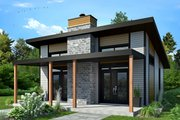Contemporary Style House Plan - 2 Beds 1 Baths 686 Sq/Ft Plan #23-2605