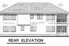 European Exterior - Rear Elevation Plan #18-216