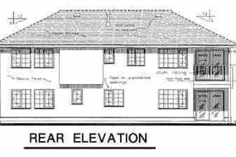 European Exterior - Rear Elevation Plan #18-216 - Houseplans.com