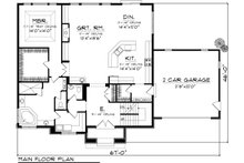 Tudor Floor Plan - Main Floor Plan Plan #70-1139