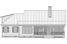 House Plan Design - Country Exterior - Rear Elevation Plan #137-374
