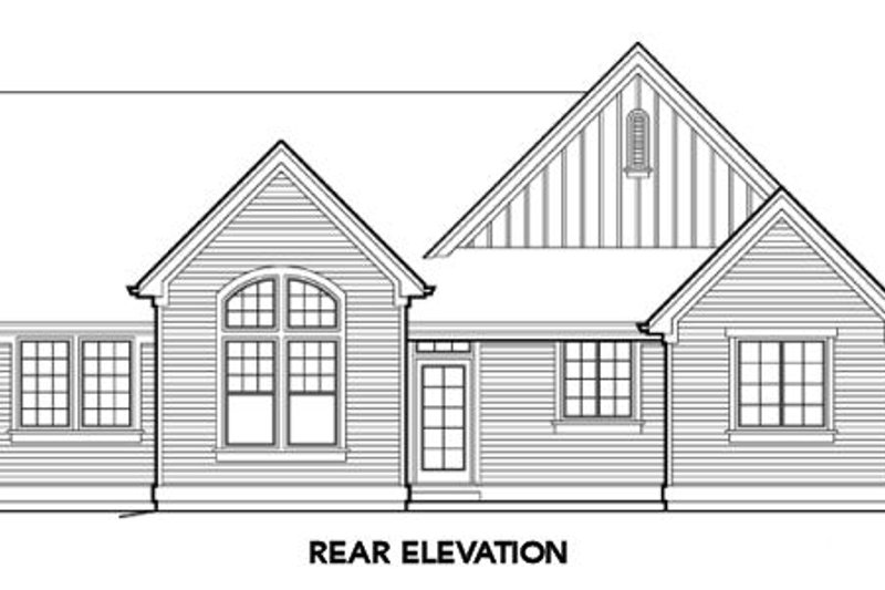 Farmhouse Exterior - Rear Elevation Plan #48-274 - Houseplans.com