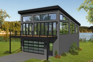 Architectural House Design - Contemporary Exterior - Front Elevation Plan #932-300