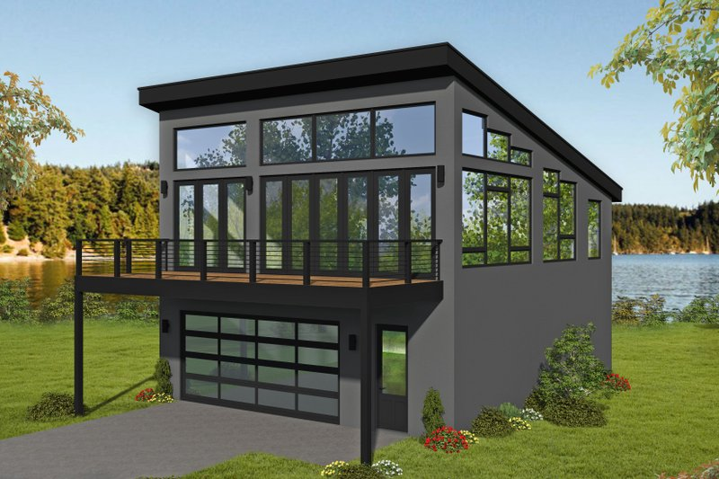 Contemporary Style House Plan - 1 Beds 1.5 Baths 1309 Sq/Ft Plan #932-300