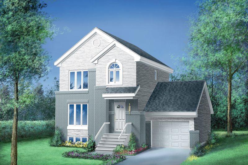 Traditional Style House Plan - 3 Beds 1.5 Baths 1196 Sq/Ft Plan #25-2157 Exterior - Front Elevation