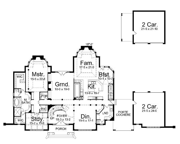 European Floor Plan - Main Floor Plan #119-242