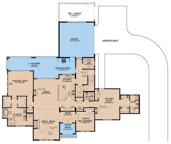 Dream House Plan - European Floor Plan - Main Floor Plan #923-186
