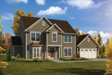 House Plan Design - Traditional Exterior - Front Elevation Plan #57-660