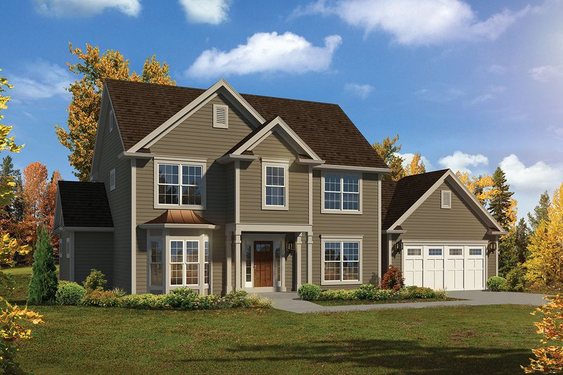 Dream House Plan - Traditional Exterior - Front Elevation Plan #57-660