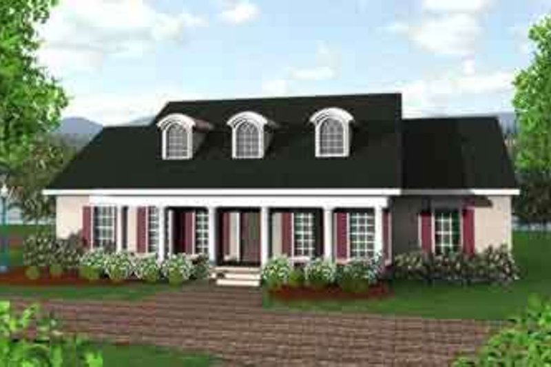 Southern Exterior - Front Elevation Plan #44-146