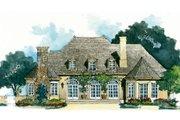 European Style House Plan - 3 Beds 2.5 Baths 2598 Sq/Ft Plan #429-37 Exterior - Rear Elevation