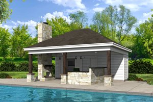 Architectural House Design - Country Exterior - Front Elevation Plan #932-114