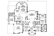 Colonial Style House Plan - 5 Beds 5.5 Baths 7318 Sq/Ft Plan #419-235 Floor Plan - Main Floor Plan