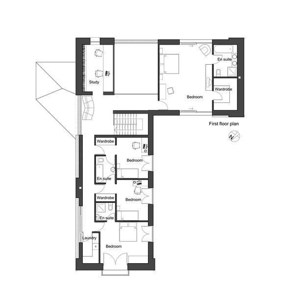 European Floor Plan - Upper Floor Plan Plan #520-8