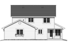 House Blueprint - Farmhouse Exterior - Rear Elevation Plan #18-290