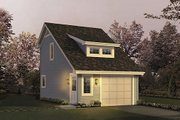 Traditional Style House Plan - 0 Beds 1 Baths 342 Sq/Ft Plan #57-396 Exterior - Front Elevation