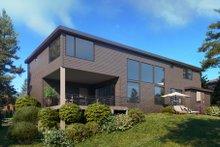 House Design - Contemporary Exterior - Rear Elevation Plan #1066-128