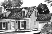 Colonial Style House Plan - 3 Beds 1.5 Baths 1245 Sq/Ft Plan #72-317 Exterior - Front Elevation