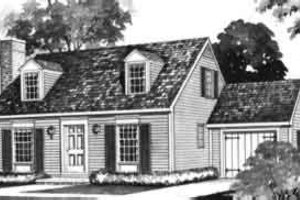 Colonial Exterior - Front Elevation Plan #72-317