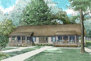 Cottage Exterior - Front Elevation Plan #17-2565