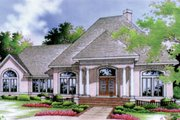 European Style House Plan - 3 Beds 2 Baths 1792 Sq/Ft Plan #45-120 Exterior - Front Elevation