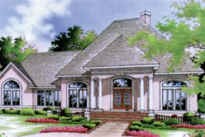 European Exterior - Front Elevation Plan #45-120