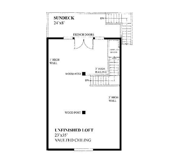 Farmhouse Floor Plan - Upper Floor Plan #118-135