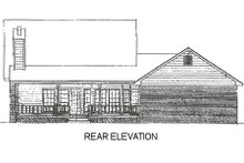 Home Plan - Country Exterior - Rear Elevation Plan #14-211