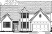 Traditional Style House Plan - 4 Beds 3 Baths 2696 Sq/Ft Plan #67-789 Exterior - Front Elevation