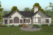 Craftsman Style House Plan - 3 Beds 2.5 Baths 1992 Sq/Ft Plan #56-567 Exterior - Other Elevation