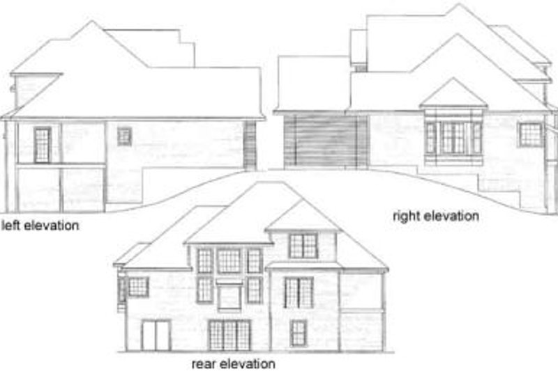 Traditional Exterior - Rear Elevation Plan #31-107 - Houseplans.com