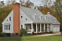 Southern Exterior - Front Elevation Plan #137-224