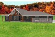 Ranch Style House Plan - 4 Beds 3 Baths 2374 Sq/Ft Plan #408-102 Exterior - Front Elevation