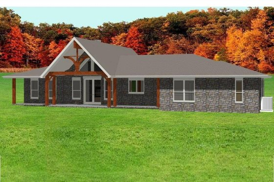 Ranch Exterior - Front Elevation Plan #408-102