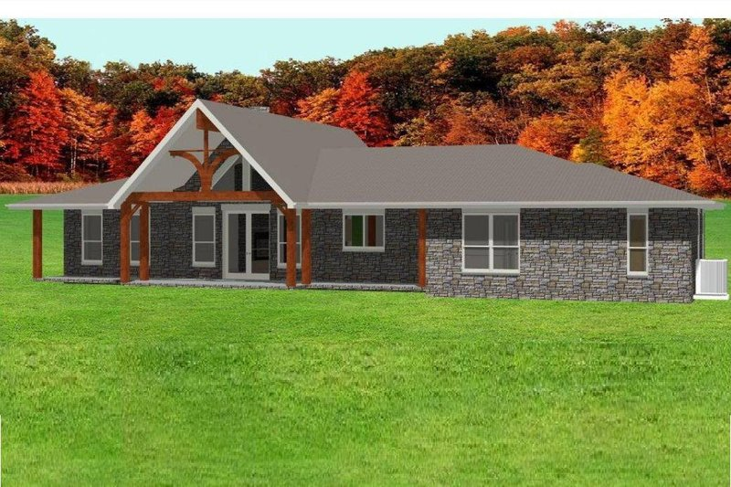 Ranch Style House Plan - 4 Beds 3 Baths 2374 Sq/Ft Plan #408-102
