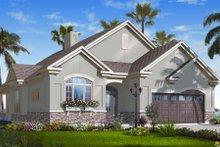 Home Plan - Mediterranean Exterior - Front Elevation Plan #23-2217