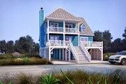 Beach Style House Plan - 4 Beds 3 Baths 1863 Sq/Ft Plan #37-115 Exterior - Front Elevation