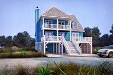 Beach Exterior - Front Elevation Plan #37-115