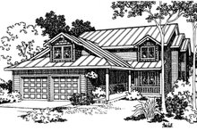 Home Plan - Traditional Exterior - Front Elevation Plan #124-331