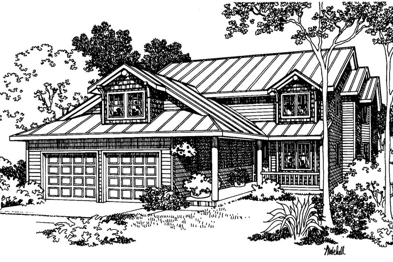 Traditional Exterior - Front Elevation Plan #124-331