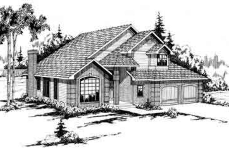 Modern Exterior - Front Elevation Plan #124-143