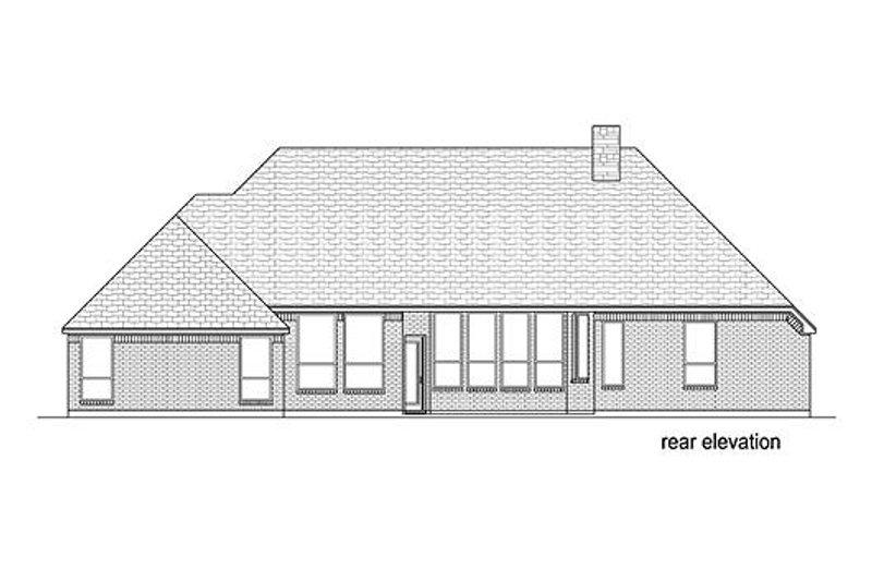 European Exterior - Rear Elevation Plan #84-531 - Houseplans.com