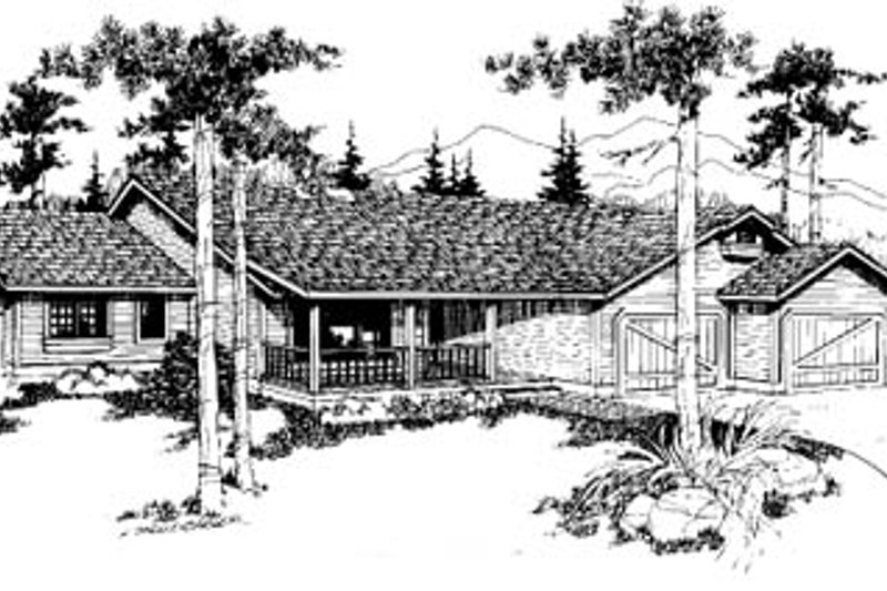 Ranch Exterior - Front Elevation Plan #60-146