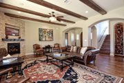 Mediterranean Style House Plan - 5 Beds 4 Baths 3585 Sq/Ft Plan #80-221 Interior - Family Room