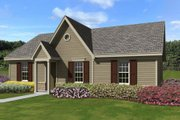 Ranch Style House Plan - 3 Beds 2 Baths 1138 Sq/Ft Plan #81-13860 Exterior - Front Elevation