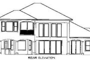 Mediterranean Style House Plan - 3 Beds 3 Baths 3130 Sq/Ft Plan #27-217 Exterior - Rear Elevation